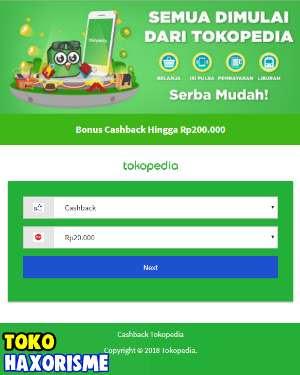 Web Phising Tokopedia Cashback