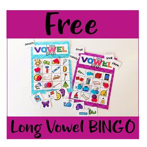 Long Vowel BINGO Literacy Center