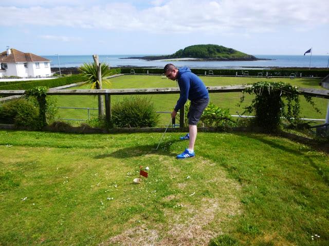 Miniature Golf Putting Green in Looe, Cornwall