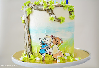 Goldie and Bear Cake, Goldilocks Cake, Boy Birthday Cake, Third Birthday Cake, Disney Cake, Cake Decorating Ideas