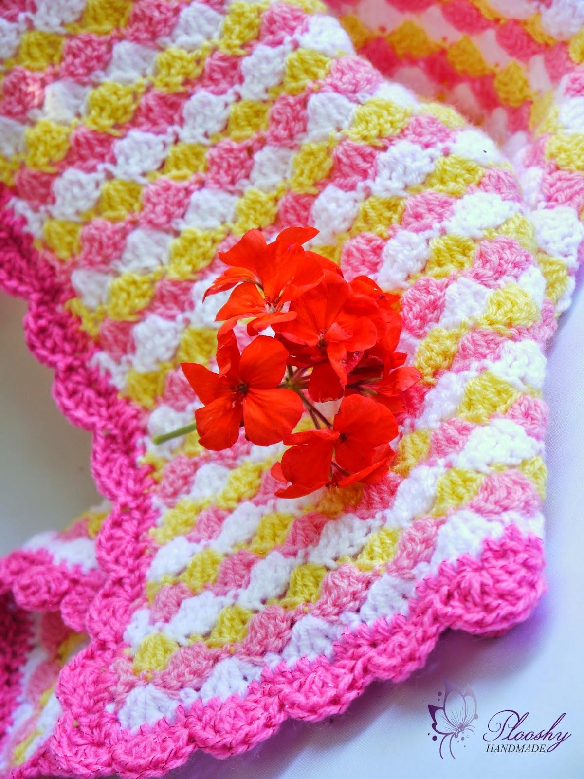 Plooshy Handmade Adorable Crochet Baby Blanket Pattern