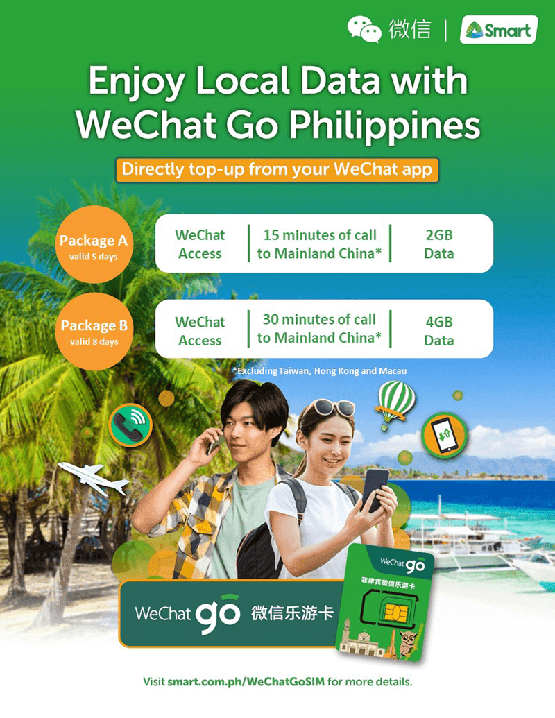 Smart WeChat Go SIM for Chinese tourists