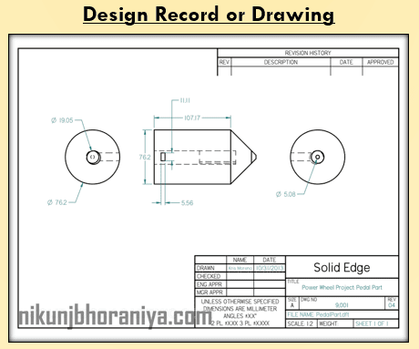 Design Record or Drawing