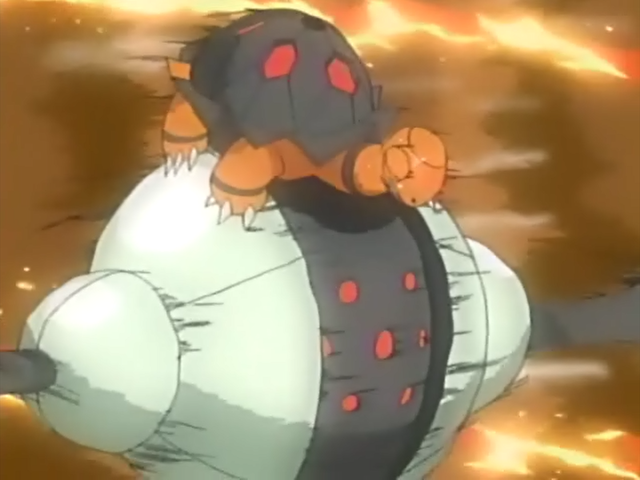 Torkoal contra Registeel Anime