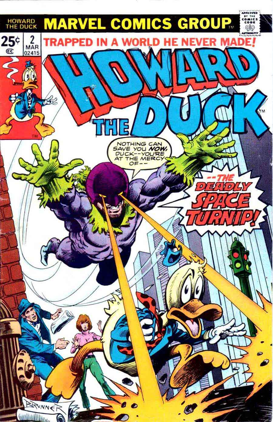 Howard the Duck v1 #2 marvel 1970s bronze age comic book cover art by Frank Brunner