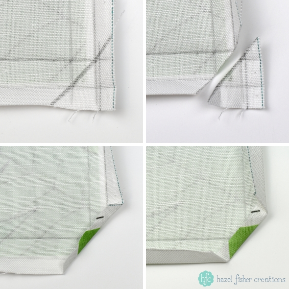How to Finish a Spoonflower Tea Towel sewing tutorial step 3 by Hazel Fisher Creations