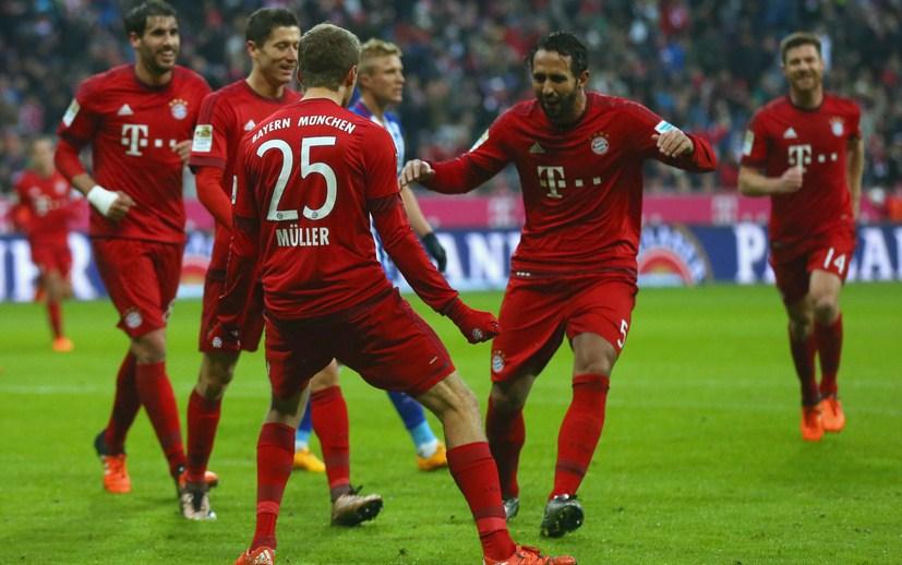 Bayern Munich hunting treble Winner