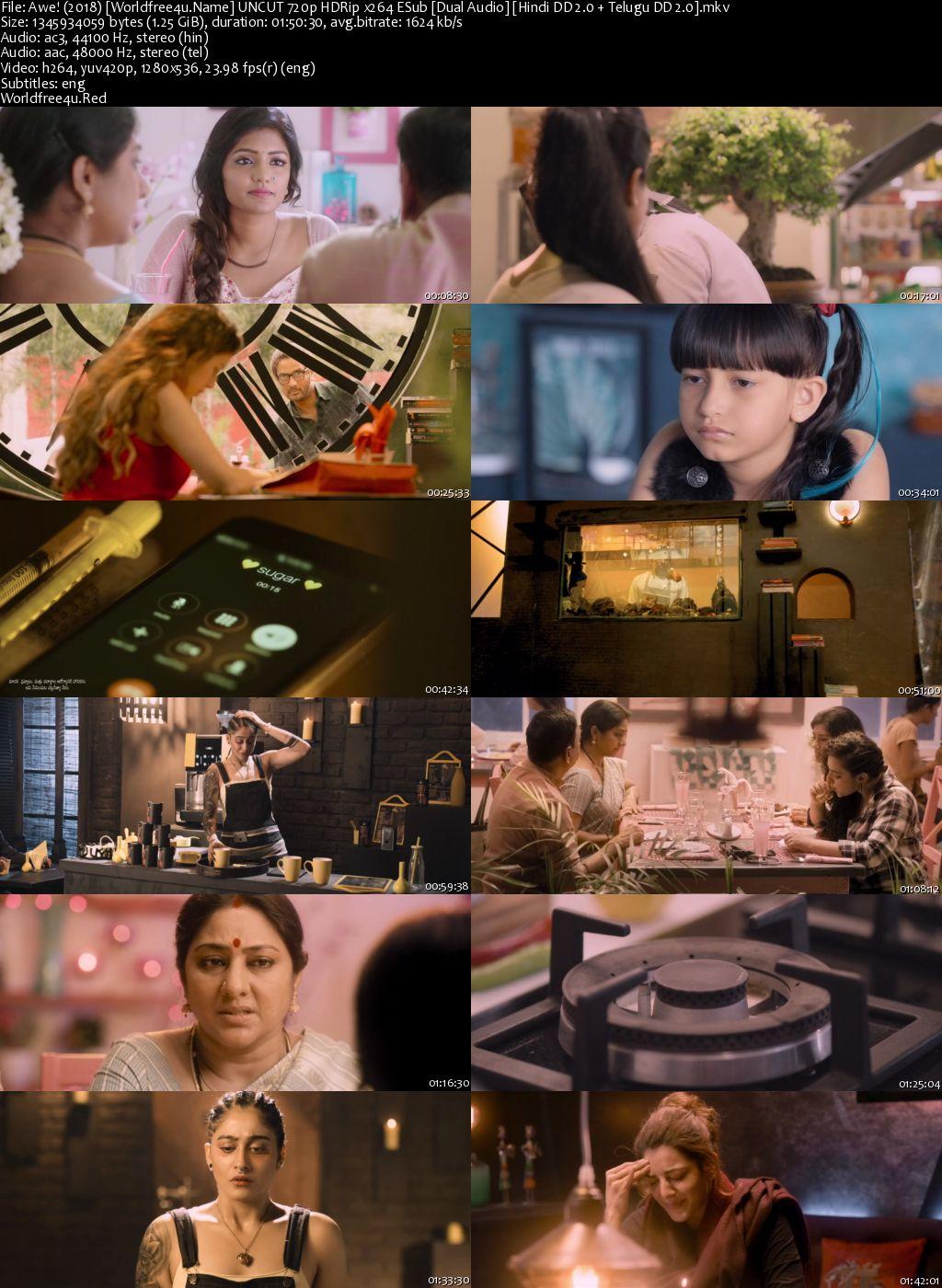 Awe! 2018 Hindi Dubbed HDRip 720p