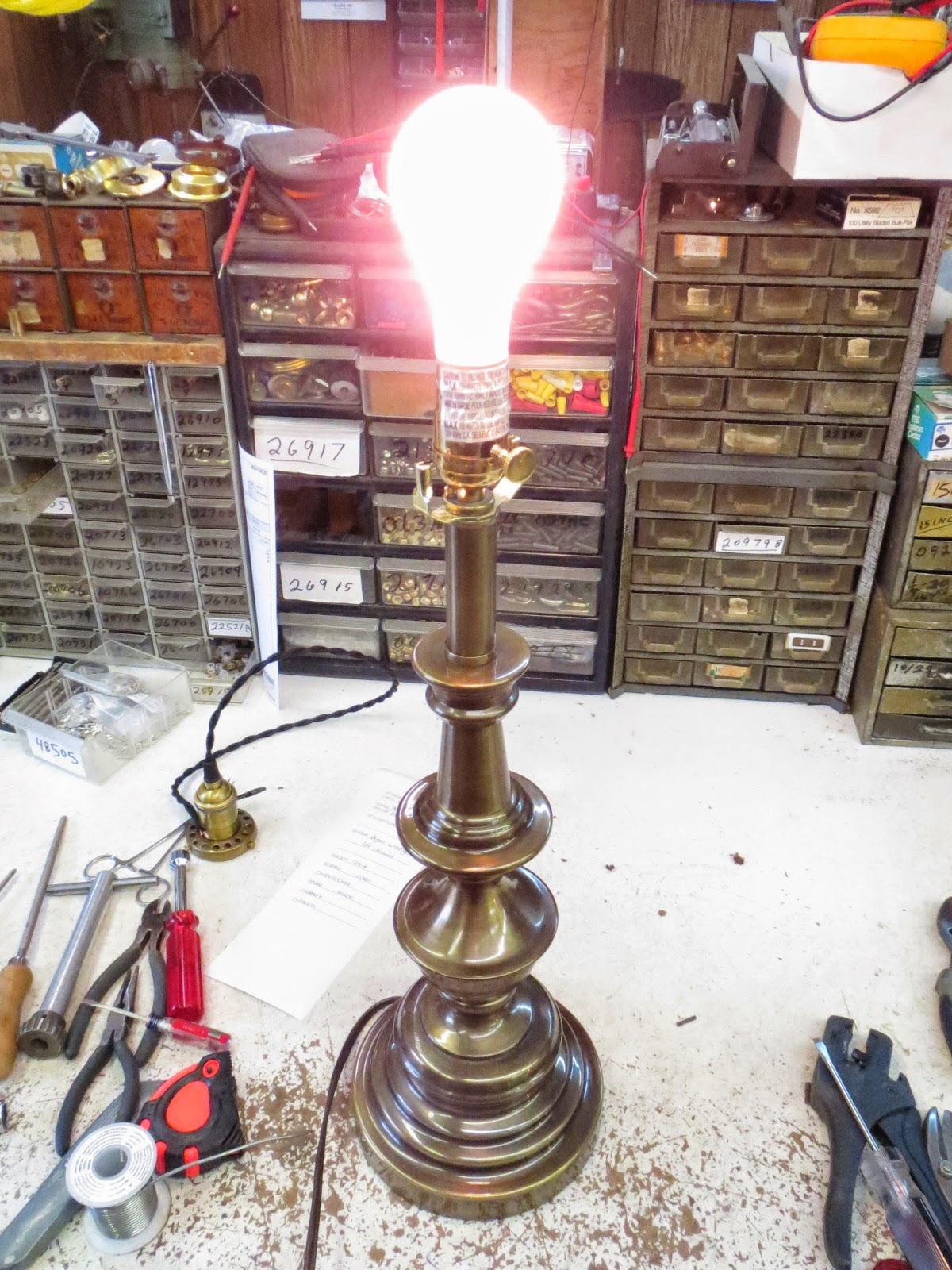 Lamp Parts And Repair Lamp Doctor Brass Table Lamp With