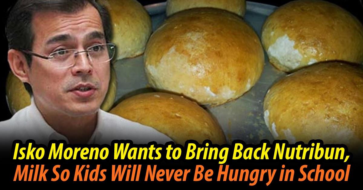Isko Moreno: Let's Bring Back Nutribun, Milk So Kids Will Never Be Hungry in School