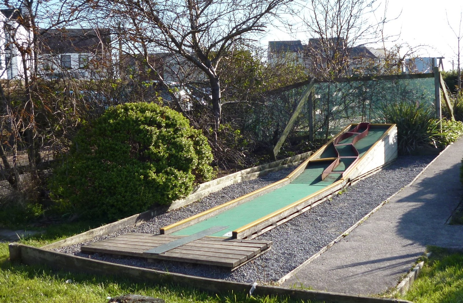 ... the Crazy Golf course at the Lake District Coast Aquarium in Maryport