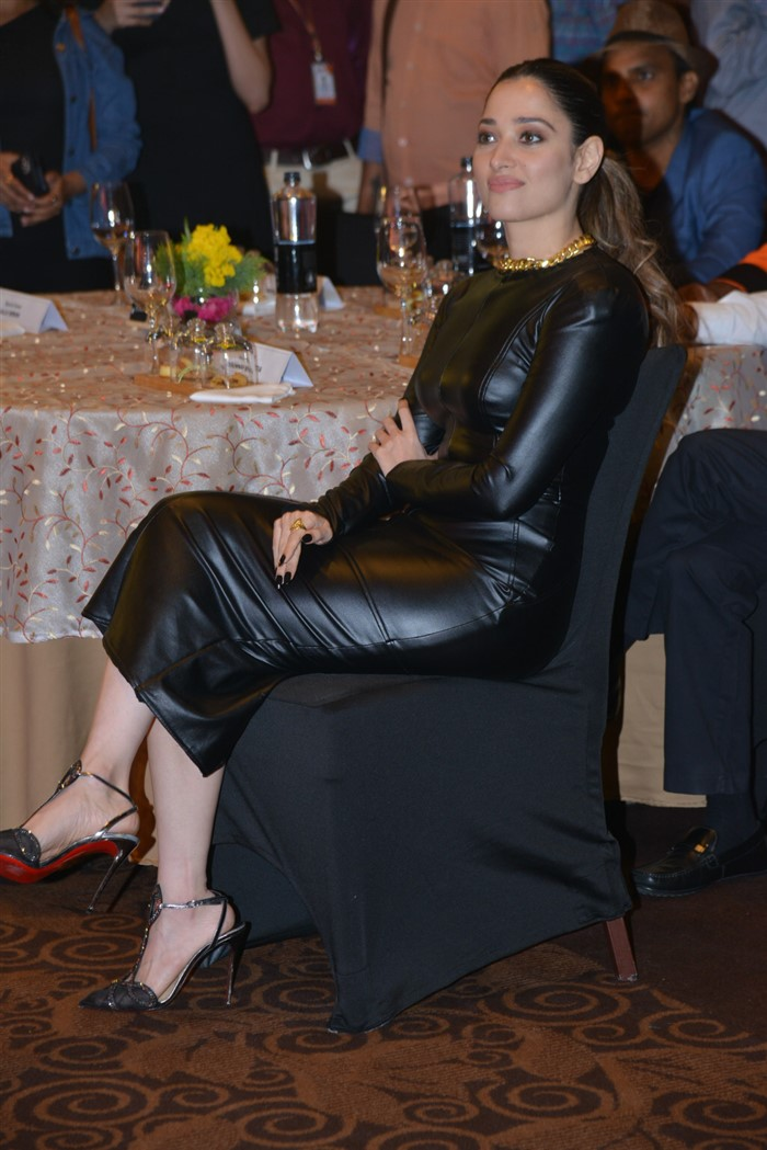 Actress Tamannaah Black Dress