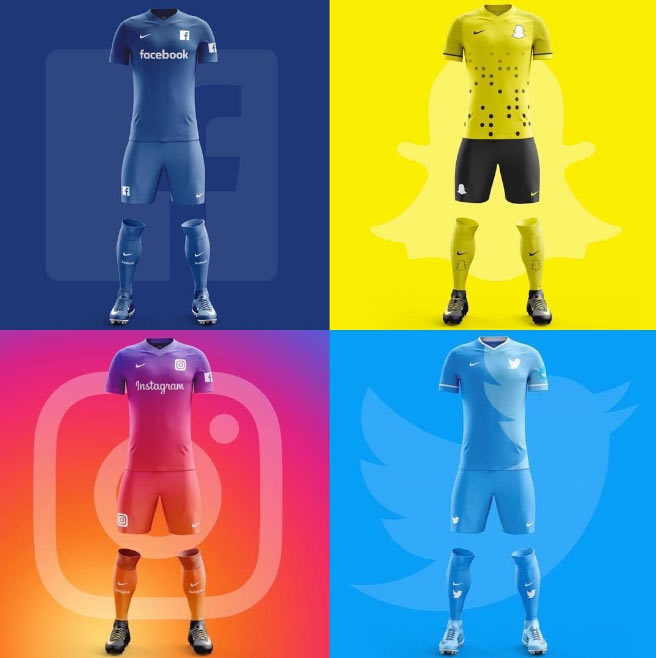 Photos: If Facebook, Twitter, Instagram & Snapchat were football clubs