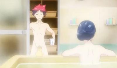 Megumi melihat Soma telanjang bulat