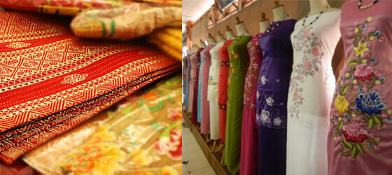 Pakaian muslim di pasar atas bukittinggi
