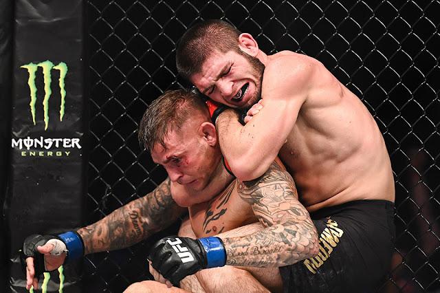 Khabib Nurmagomedov Submits Dustin Poirier at UFC 242