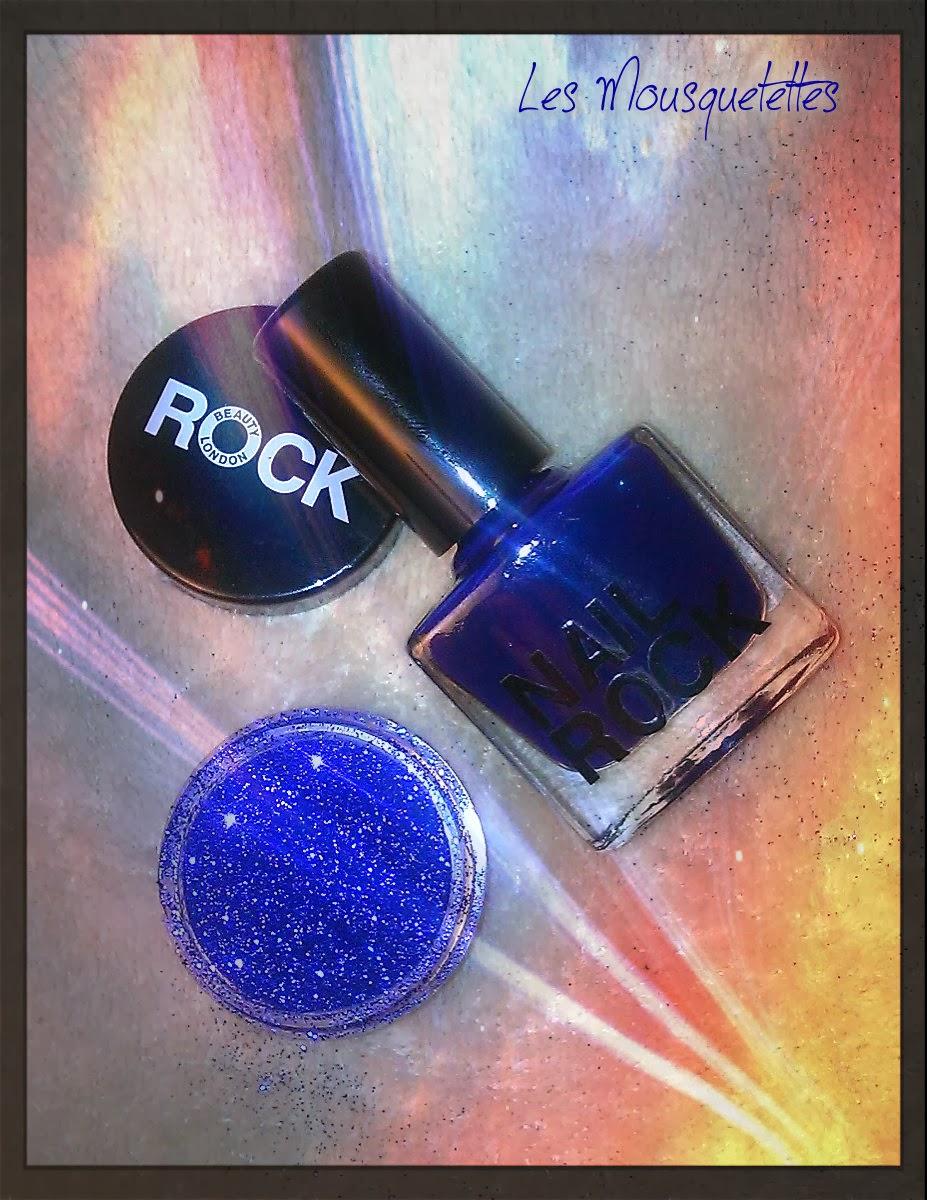 Vernis Nail Rock Glitter Blue - Les Mousquetettes©