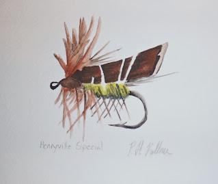 Henryville Special, Pat Kellner, P. H. Kellner, Fishing Art, Fly Fishing Art, Texas Freshwater Fly Fishing, TFFF, Fly Fishing Texas, Texas Fly Fishing