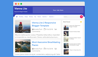 Vienna Lite 2 Blogger Template Free Download |