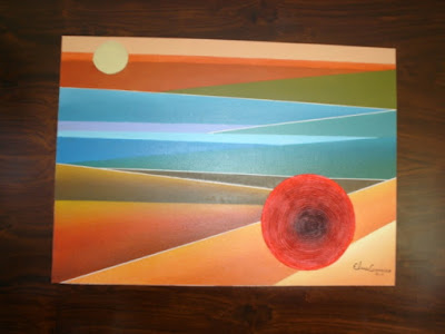Pintura sobre  madeira de Elma Carneiro