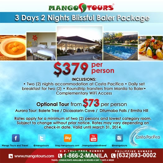 Mango Tours Aurora Baler Package