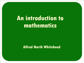 An introduction to mathematics (1911) by Alfred North Whitehead