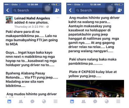A netizen warns all commuters about the new jeepney holdup modus.