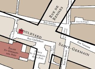 Le boulevard Saint Germain et l'emprise de l'ancienne abbaye