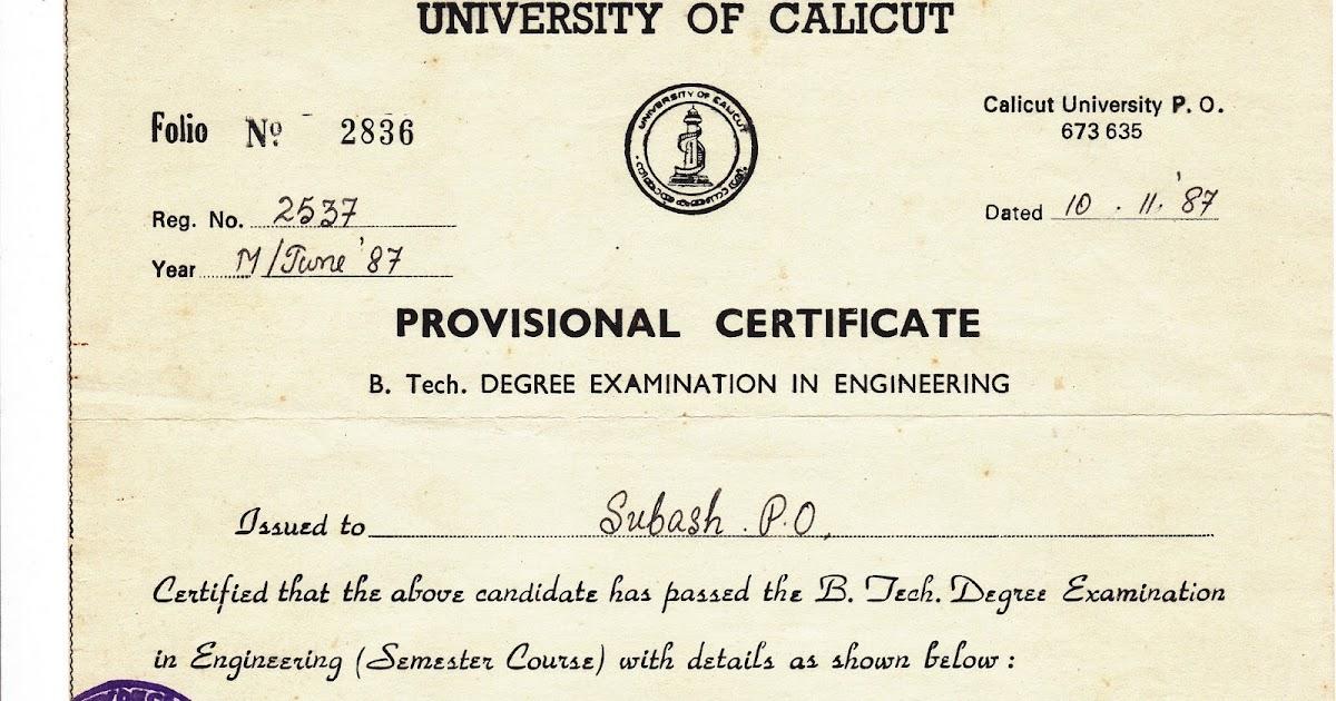 Bangalorecity Btech Provisional Certificate