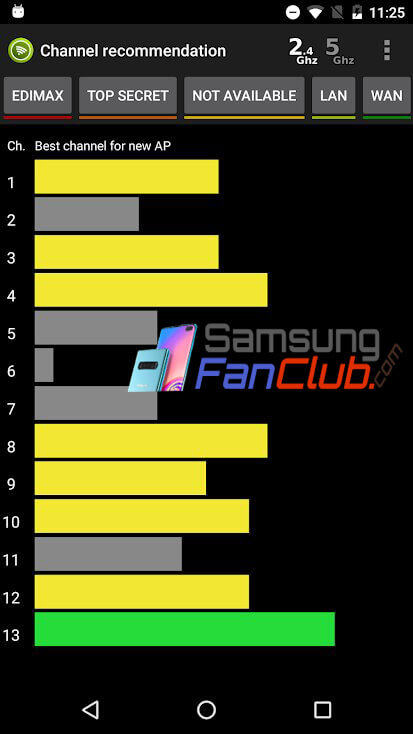 WiFi Analyzer Pro App for Android Samsung Galaxy S10 Plus