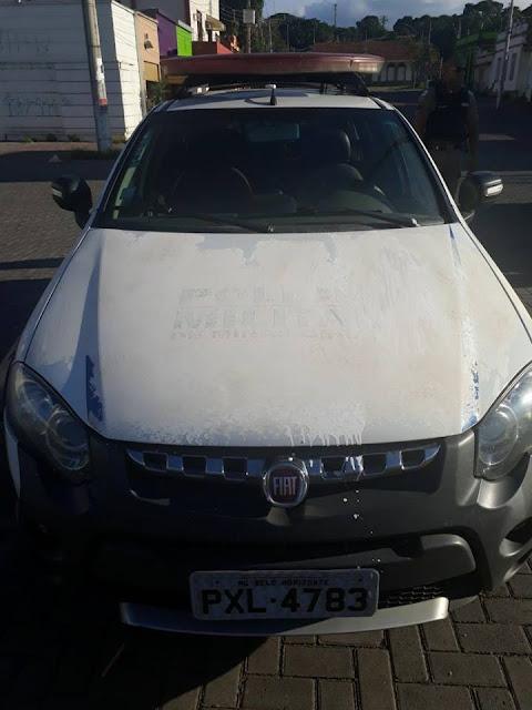 Vandalismo em viatura termina em prisão em Santa Luzia