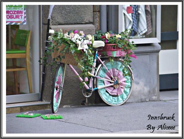 bicicleta-flori-frumoasa-verde