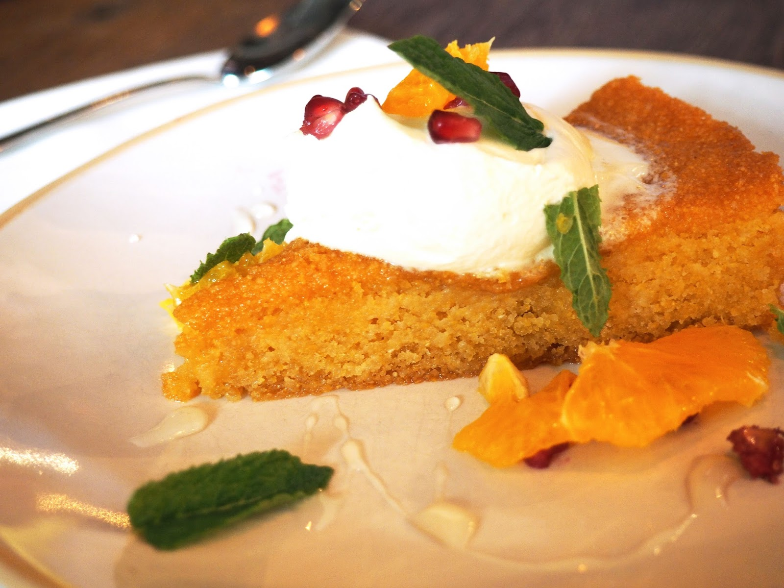 Jamie's Italian Super Lunch Menu Orange Blossom Polenta Cake