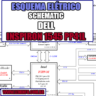 Esquema Elétrico Manual de Serviço Notebook Laptop Placa Mãe Dell Inspiron 1545 PP41L Schematic Service Manual Diagram Laptop Motherboard Dell Inspiron 1545 PP41L Esquematico Manual de Servicio Diagrama Electrico Portátil Placa Madre Dell Inspiron 1545 PP41L
