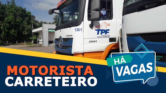 Transportadora Porto Ferreira abre vagas para motorista carreteiro