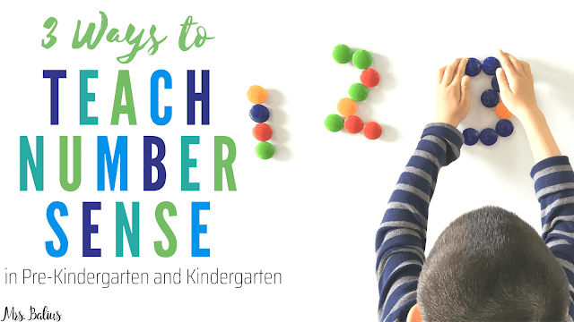 Teaching number is an important part of math in preschool and kindergarten.  These tips and ideas for teaching number sense will help you and your students.