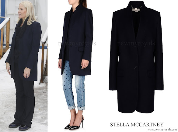 Crown Princess Mette Marit wore STELLA McCARTNEY Bryce Coat