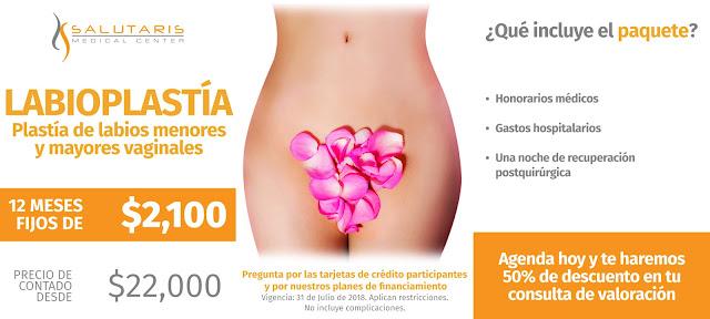 Cirugia intima vaginal femenina en Salutaris Guadalajara Mexico