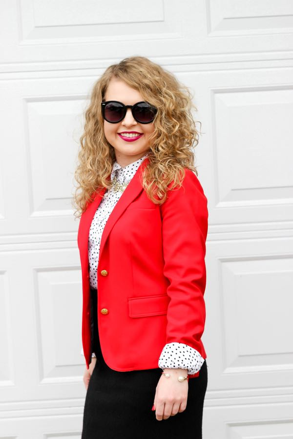 J. Crew Red Blazer, What to Wear to Office Christmas Parties