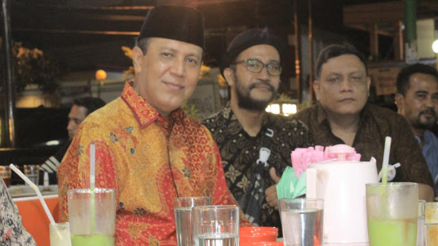 Komjen Boy Rafli saat menggelar pertemuan dengan SBR Sumbar, Jumat 26 Maret 2021 di Padang. (Dok. Istimewa