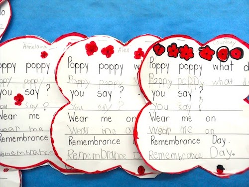 """Children's book """"Blowin in the Wind"""" by Bob Dylan. I also have some poppy booklets for first graders to practice their printing. Perfect for Remembrance Day or Veterans Day. #gradeonederful #remembranceday #veteransday #booksforkids #poppypoem #remembrancedaypoem"""