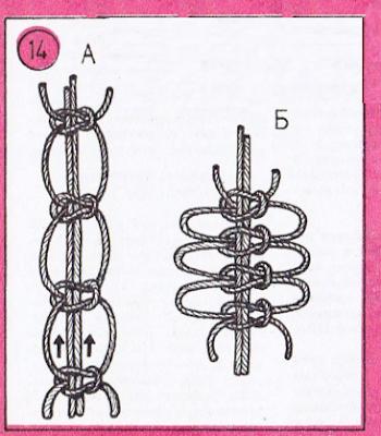 воздушный узел макраме