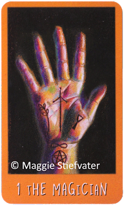 Raven's Prophecy Tarot The Magician Maggie Stiefvater blog logger