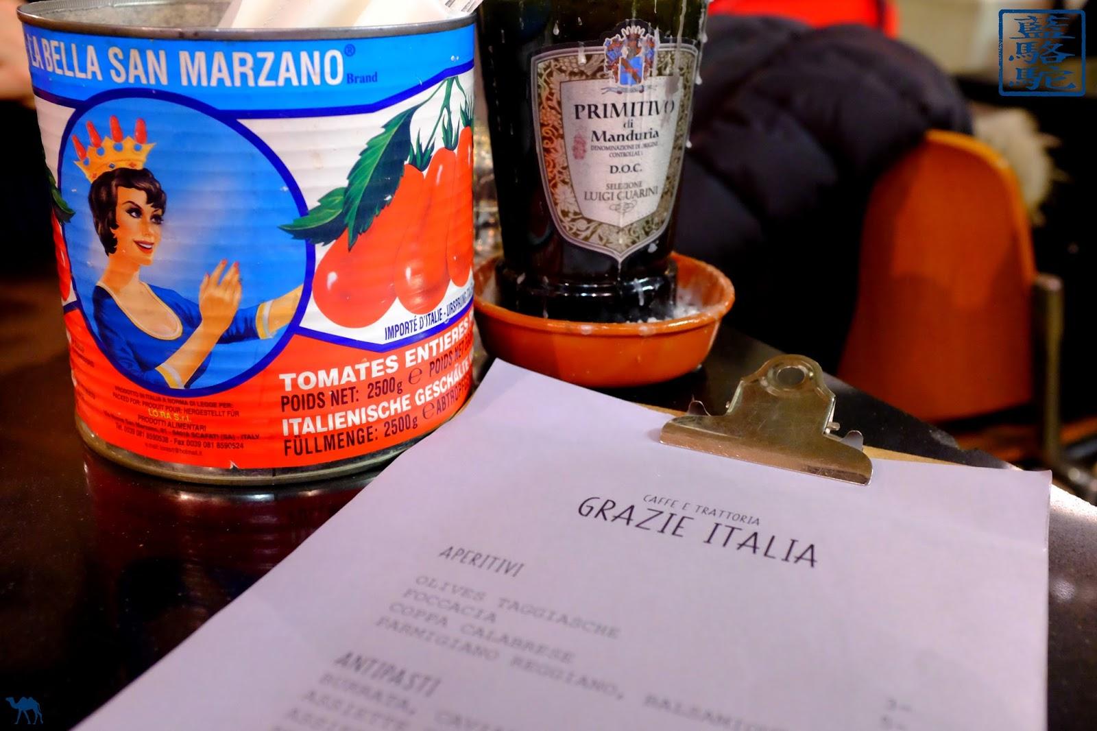 Le Chameau Bleu - Menu de Grazie Italia