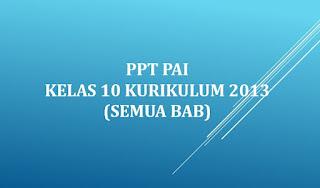 PPT PAI kelas 10 Kurikulum 2013 (Semua Bab)