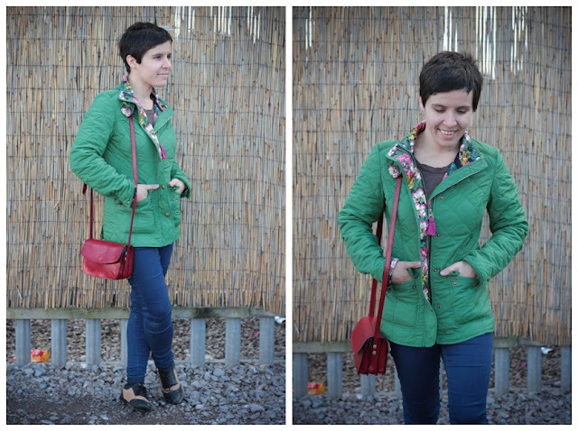 Green outdoor jacket