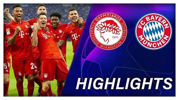 Cuplikan Gol Liga Champions Olympiakos vs Bayern Munchen 2-3