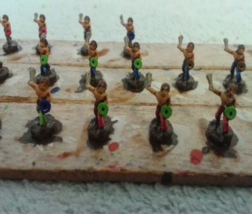 A unit of Gallic/Celtic slingers completed for my celtic army which is growing very nicely now picture 2
