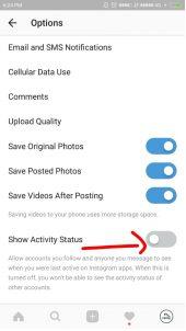 Cara Menyembunyikan Status Online Terakhir di Instagram