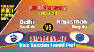 RR vs DC IPL 2019 40th Match Prediction Today Who Will Win
